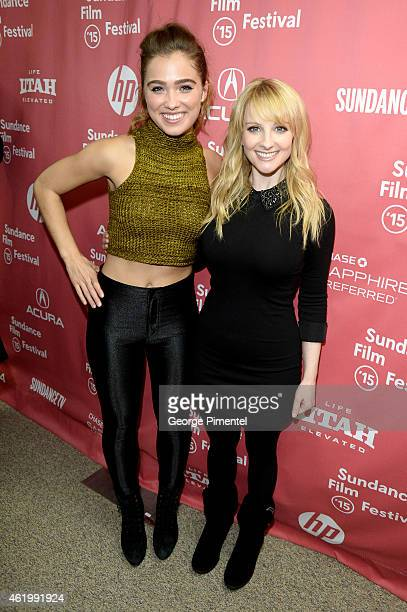 Actors Haley Lu Richardson and Melissa Rauch attend 'The Bronze' Premiere at the Eccles Center Theatre during the 2015 Sundance Film Festival on...