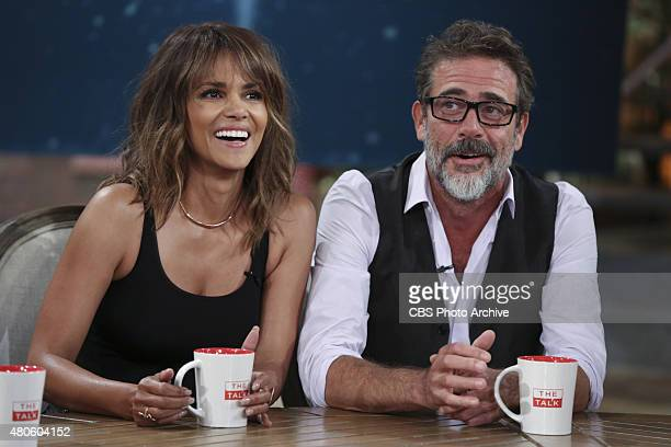"""Actors Halle Berry and Jeffrey Dean Morgan visits the ladies of """"The Talk,"""" Tuesday, June 30, 2015 on the CBS Television Network."""