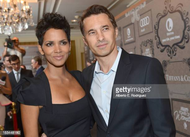 Actors Halle Berry and Olivier Martinez arrive at Variety's 4th Annual Power of Women Event Presented by Lifetime at the Beverly Wilshire Four...