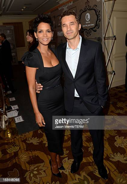 Actors Halle Berry and Olivier Martinez arrive at Variety's 4th Annual Power of Women Event Presented by Lifetimeat the Beverly Wilshire Four Seasons...
