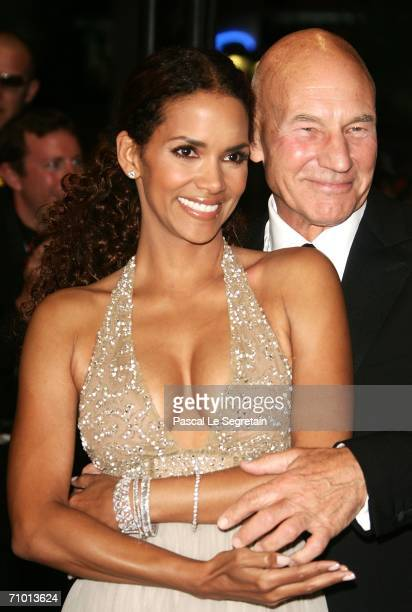 Actors Halle Berry and Patrick Stewart attend the 'XMen 3 The Last Stand' premiere at the Palais des Festivals during the 59th International Cannes...