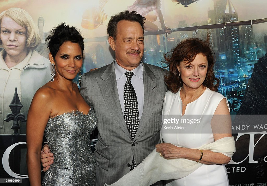 Actors Halle Berry, Tom Hanks and Susan Sarandon arrive at Warner Bros. Pictures' 'Cloud Atlas' premiere at Grauman's Chinese Theatre on October 24, 2012 in Hollywood, California.