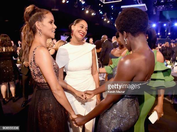 Actors Halle Berry Tracee Ellis Ross and Lupita Nyong'o attend the 24th Annual Screen Actors Guild Awards at The Shrine Auditorium on January 21 2018...
