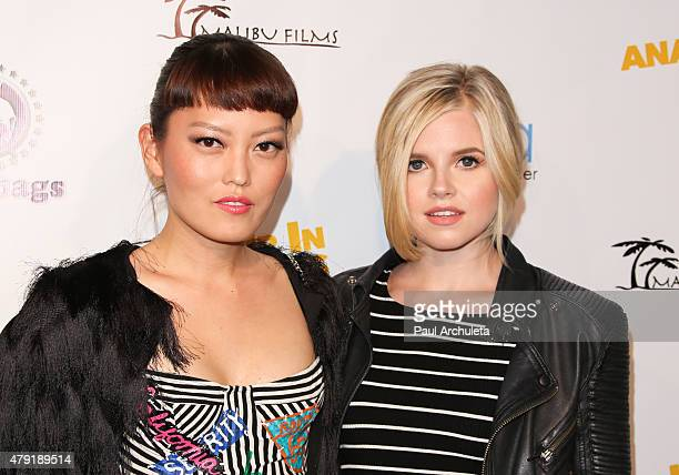 Actors Hana Mae Lee and Ana MulvoyTen attend the special screening of Ur In Analysis at the Egyptian Theatre on July 1 2015 in Hollywood California