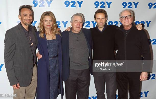 Actors Hank Azaria Michelle Pfeiffer Robert De Niro Alessandro Nivola and director Barry Levinson attend the 'The Wizard Of Lies' presented by 92Y...