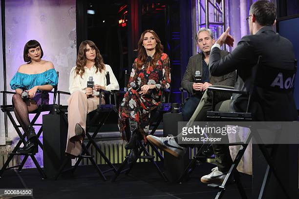 Actors Hannah Dunne Lola Kirke and Saffron Burrows and writer director and producer Paul Weitz speak with Ricky Camilleri at AOL BUILD Series 'Mozart...