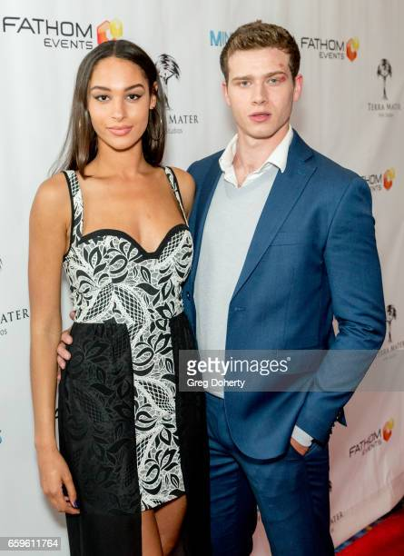 Actors Hannah Gottesman and Oliver Stark arrive for the Fathom Events And Terra Mater Film Studios Premiere Event For MindGamers One Thousand Minds...