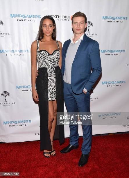 Actors Hannah Gottesman and Oliver Stark attend Fathom Events and Terra Mater Film Studios' Mindgamers One Thousand Minds Connected Live premiere...