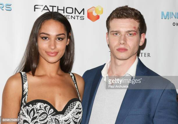 Actors Hannah Gottesman and Oliver Stark attend the premiere for MindGamers One Thousand Minds Connected Live at Regal LA Live Stadium 14 on March 28...