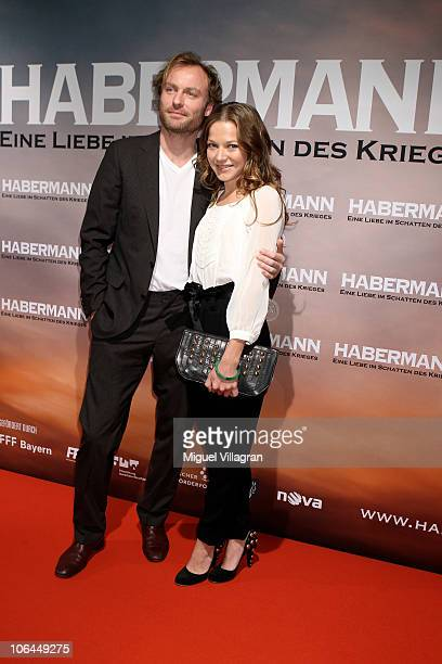 Actors Hannah Herzsprung and Mark Waschke attend the Habermann premiere at Filmcasino on November 2 2010 in Munich Germany The movie starts on...