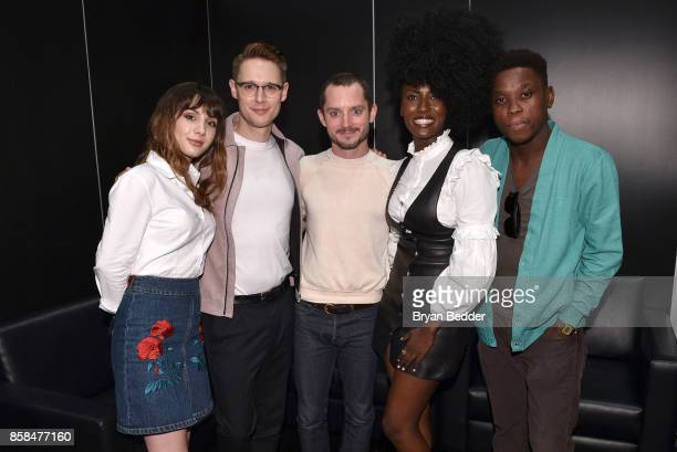Actors Hannah Marks Sam Barnett Elijah Wood Jade Eshete and Mpho Koaho attend the FANDOM Fest during New York Comic Con on October 6 2017 in New York...