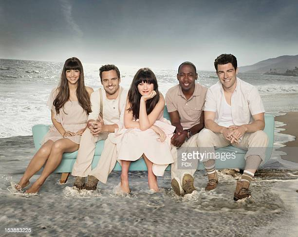 Actors Hannah Simone, Jake Johnson, Zooey Deschanel, Lamorne Morris and Max Greenfield on Season Two of NEW GIRL airing Tuesdays on FOX.