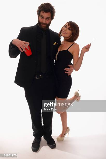 Actors Harley Morenstein and Shira Lazar pose for a portrait in the TV Guide Portrait Studio at the 3rd Annual Streamy Awards at Hollywood Palladium...