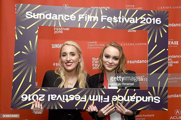Actors Harley Quinn Smith and LilyRose Melody Depp attend the 'Yoga Hosers' Premiere during the 2016 Sundance Film Festival at Library Center Theater...