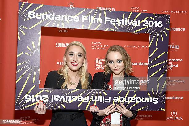 Actors Harley Quinn Smith and LilyRose Melody Depp attend the Yoga Hosers Premiere during the 2016 Sundance Film Festival at Library Center Theater...