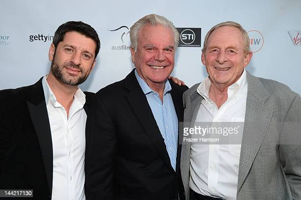 Actors Harli Ames Robert Wagner and director Simon Wincer arrive at Australians In Film Screening and USA premiere of Myriad Pictures' The Cup at...