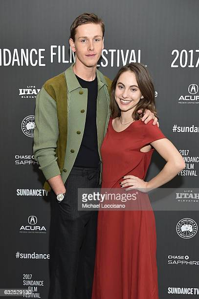 Actors Harris Dickinson and Madeline Weinstein attends the Beach Rats Premiere at Eccles Center Theatre on January 23 2017 in Park City Utah