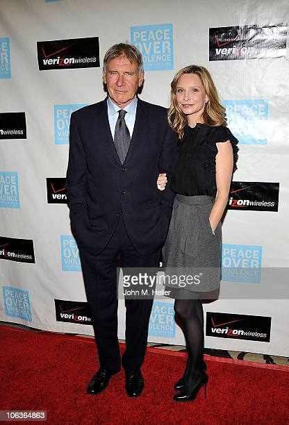 Actors Harrison Ford and Calista Flockhart attend the 39th Annual Peace Over Violence Humanitarian Awards at the Beverly Hills Hotel on October 29...