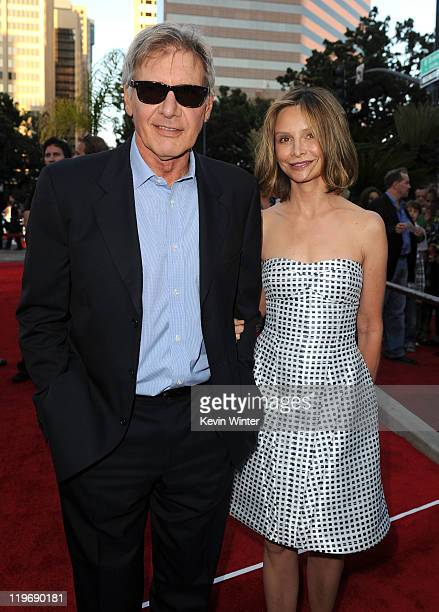 Actors Harrison Ford and Calista Flockhart attend the Premiere of Universal Pictures 'Cowboys Aliens' during ComicCon 2011 at San Diego Civic Theatre...