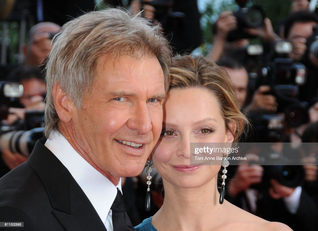 Actors Harrison Ford and Calista Flockhart attends the Indiana Jones and the Kingdom of the Crystal Skull premiere at the Palais des Festivals during the 61st Cannes International Film Festival on May 18, 2008 in Cannes, France.