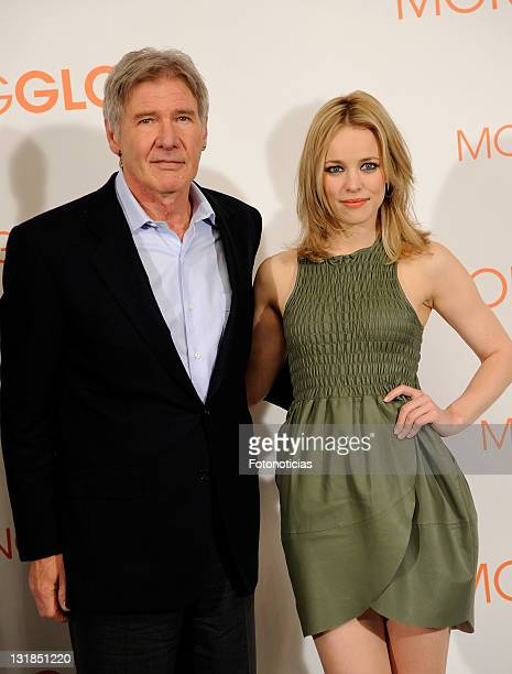 Actors Harrison Ford and Rachel McAdams attend a photocall for 'Morning Glory' at the Villamagna Hotel on January 13, 2011 in Madrid, Spain.