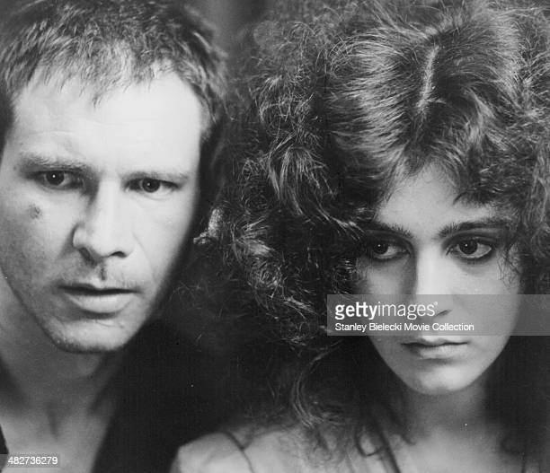 Actors Harrison Ford and Sean Young in a scene from the movie 'Blade Runner' 1982