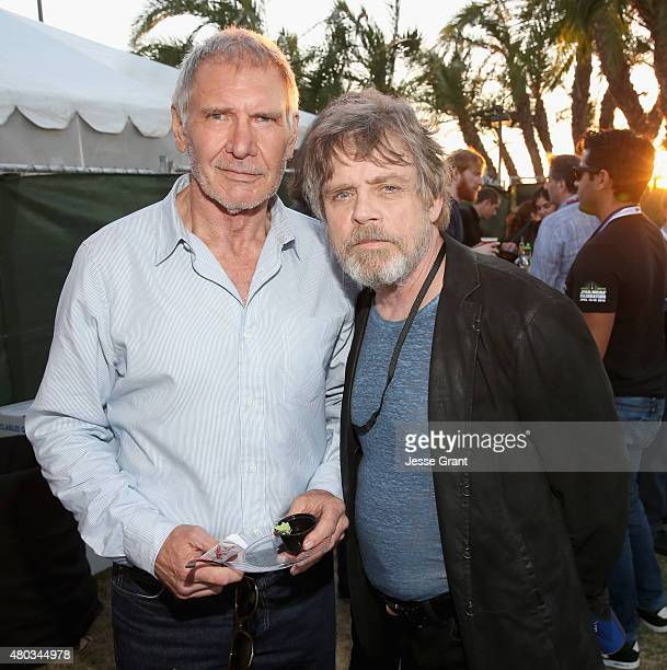 Actors Harrison Ford Mark Hamill and more than 6000 fans enjoyed a surprise 'Star Wars' Fan Concert performed by the San Diego Symphony featuring the...