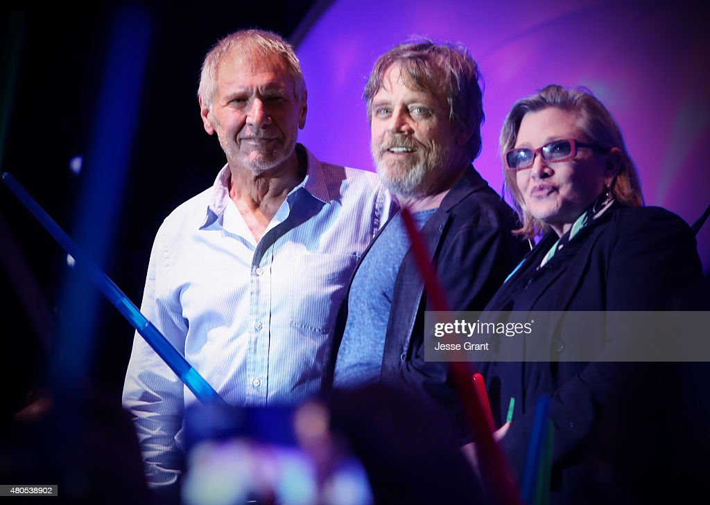 Actors Harrison Ford, Mark Hamill, Carrie Fisher and more than 6000 fans enjoyed a surprise 'Star Wars' Fan Concert performed by the San Diego Symphony, featuring the classic 'Star Wars' music of composer John Williams, at the Embarcadero Marina Park South on July 10, 2015 in San Diego, California.
