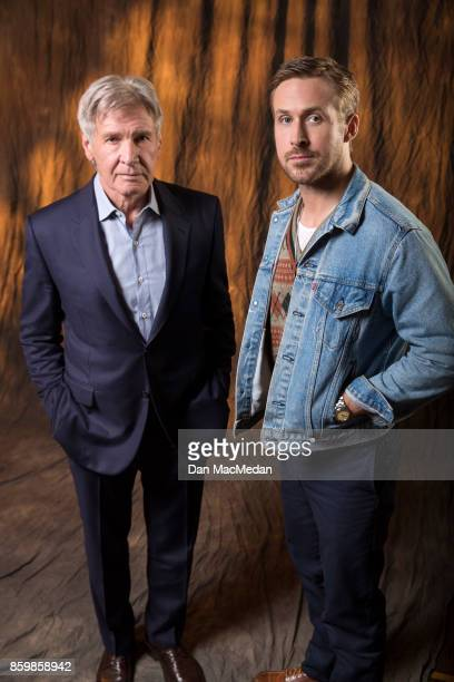 Actors Harrison Ford Ryan Gosling are photographed for USA Today on September 24 2017 in Los Angeles California
