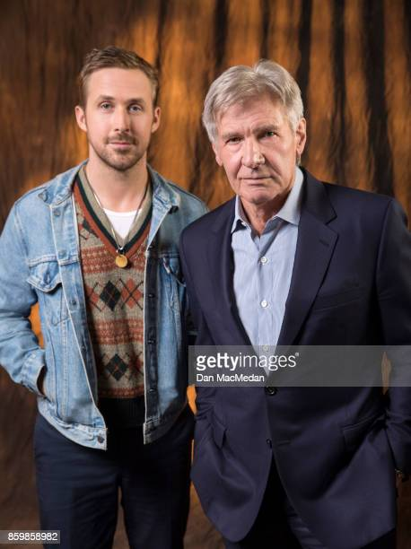 Actors Harrison Ford Ryan Gosling are photographed for USA Today on September 24 2017 in Los Angeles California PUBLISHED IMAGE