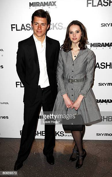 Actors Harry Eden and Felicity Jones arrive at the UK premiere of 'Flashbacks of a Fool' at the Empire cinema Leicester Square on April 13 2008 in...