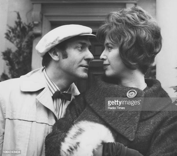Actors Harry H Corbett and Patricia Haines in a scene from episode 'Is That Your Horse Outside' of the television sitcom 'Steptoe and Son' January...