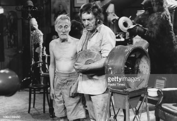 Actors Harry H Corbett and Wilfrid Brambell in a scene from episode 'Porn Yesterday' of the 'Steptoe and Son' circa 1974