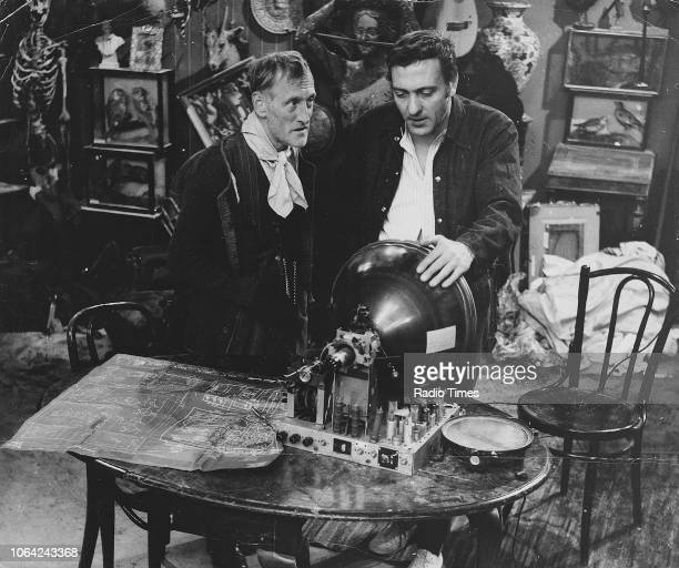 Actors Harry H Corbett and Wilfrid Brambell in a scene from episode 'The Diploma' of the television sitcom 'Steptoe and Son' May 23rd 1962