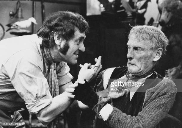 Actors Harry H Corbett and Wilfrid Brambell in a scene from the television sitcom 'Steptoe and Son' March 8th 1970