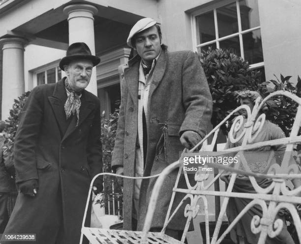 Actors Harry H Corbett and Wilfrid Brambell in a scene from the television sitcom 'Steptoe and Son' January 27th 1963
