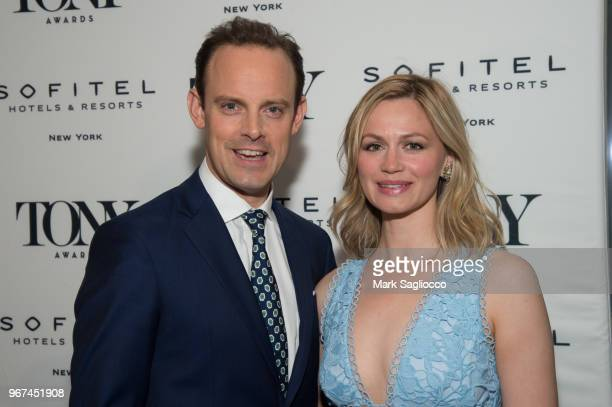 Actors Harry HaddenPaton and Rebecca Night attend the 2018 Tony Honors For Excellence In The Theatre and 2018 Special Award Recipients Cocktail Party...