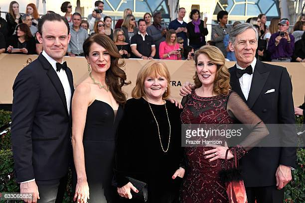 Actors Harry HaddenPaton Raquel Cassidy Lesley Nicol Phyllis Logan and Douglas Reith attend The 23rd Annual Screen Actors Guild Awards at The Shrine...