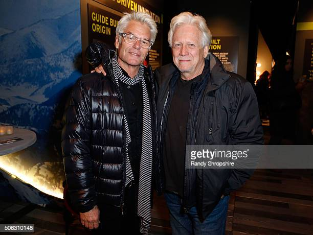 Actors Harry Hamlin and Bruce Davidson attend the Eddie Bauer Adventure House during the 2016 Sundance Film Festival at Village at The Lift on...
