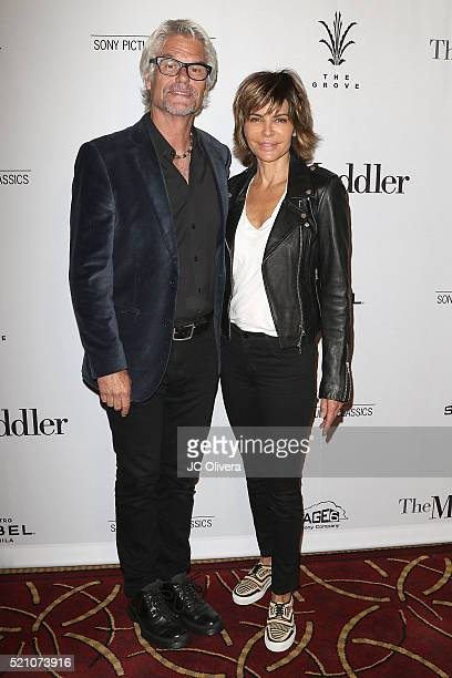 Actors Harry Hamlin and Lisa Rinna attend Sony Pictures Classics Los Angeles Premiere Of 'The Meddler' at Pacific Theatre at The Grove on April 13,...