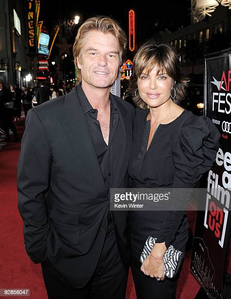 Actors Harry Hamlin and wife Lisa Rinna arrive at the AFI FEST 2009 screening of the Weinstein Company's A Single Man at the Chinese Theater on...