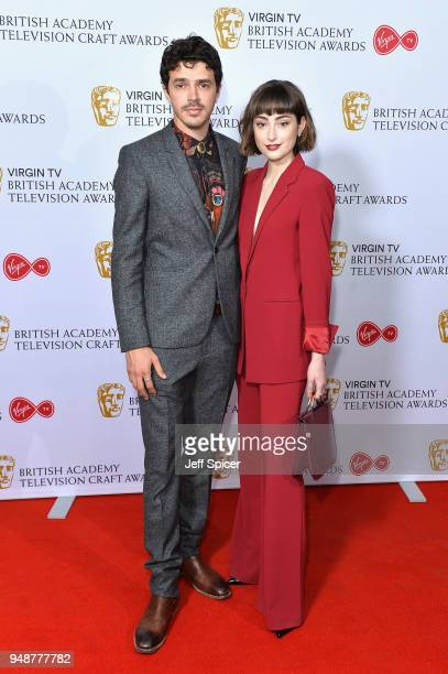 Actors Harry Richardson and Ellise Chappell attend the Virgin TV BAFTA nominees' party at Mondrian London on April 19 2018 in London England