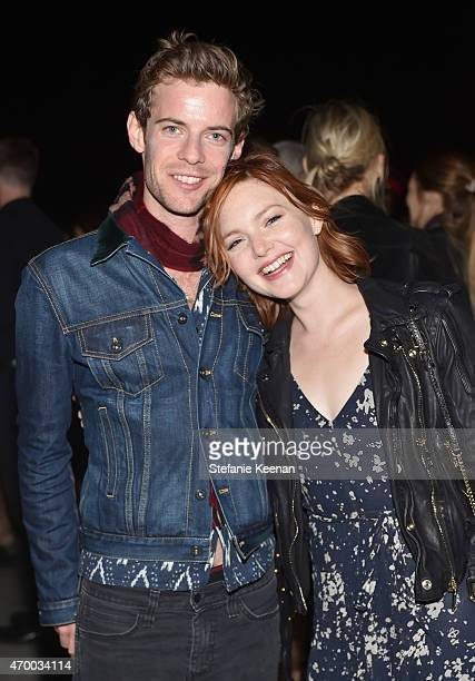Actors Harry Treadaway and Holliday Grainger attend the Burberry London in Los Angeles event at Griffith Observatory on April 16 2015 in Los Angeles...