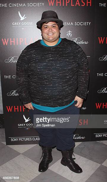 Actors Harvey Guillen attends The Cinema Society Brooks Brothers screening of Sony Pictures Classics' Whiplash at Paley Center For Media on September...