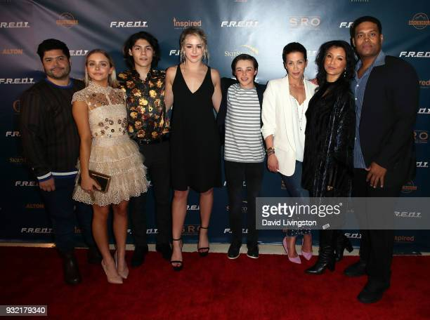 Actors Harvey Guillen Casimere Jollette Lucius Hoyos Chloe Lukasiak Reid Miller Christina Cox Kelly Hu and Texas Battle attend a screening of...