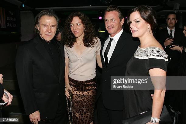 Actors Harvey Keitel Daphna Kastner Sean Penn and Marcia Gay Harden arrive at the Creative Coalition's 2006 spotlight and Christopher Reeves awards...