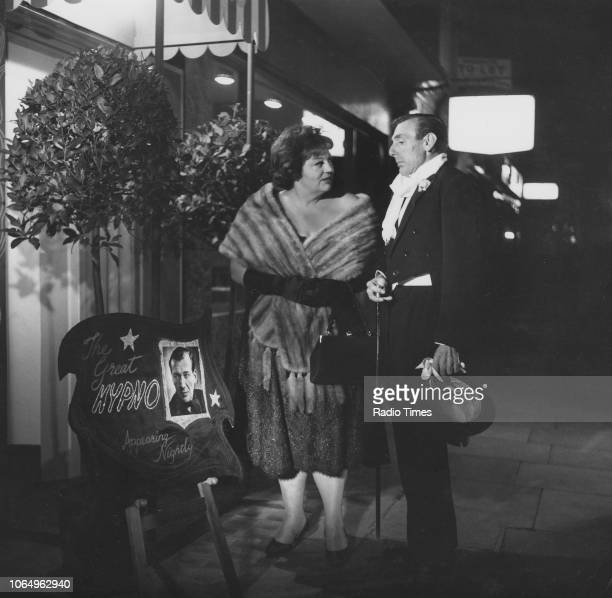 Actors Hattie Jacques and Eric Sykes in a scene from the television sitcom episode 'Sykes and a Hypnotist' September 28th 1964