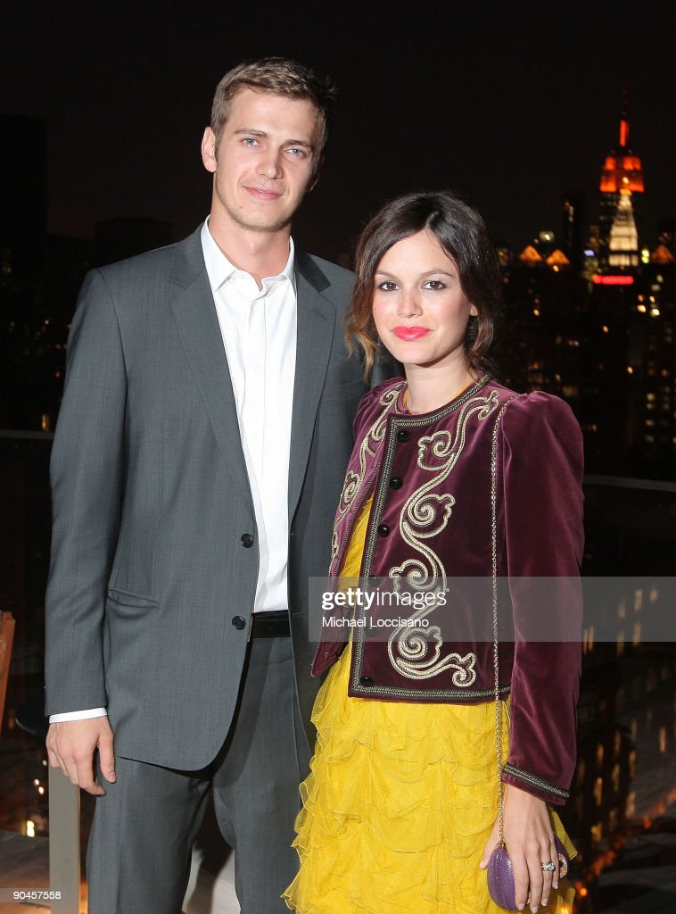 Actors (L-R) Hayden Christensen and Rachel Bilson attend a cocktail party in honor of designer Kris Van Assche and hosted by GQ & Dior Homme at The Cooper Square Hotel Penthouse on September 8, 2009 in New York City.