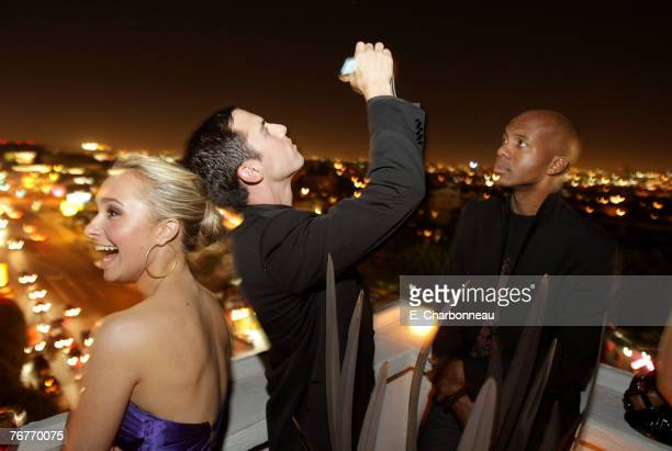 """Actors Hayden Panettiere, Milo Ventimiglia and Leonard Roberts attend the """"Heroes"""" 2007 Pre-Emmy Party Hosted by Perry Ellis and Vanity Fair at the..."""