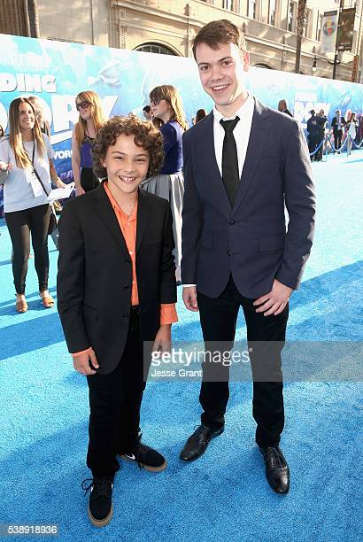 Actors Hayden Rolence and Alexander Gould attend The World Premiere of DisneyPixar's FINDING DORY on Wednesday June 8 2016 in Hollywood California